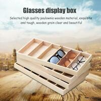 Sunglasses Storage Case Organizer Eyeglass Box Wooden Display Display TUUK