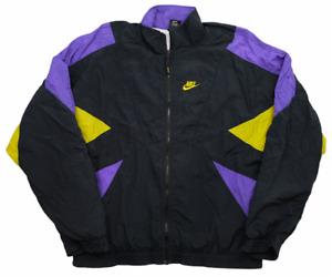 Vintage Retro Nike Black Tracksuit Jacket | Medium