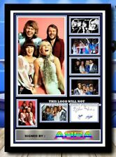 More details for (561) abba 80s pop group signed a4 photo/framed/unframed reprint @@@@@