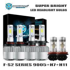 9005 H7 LED Headlight+H11 H8 Fog Light Combo Bulbs Kit for Mazda CX-7 2007-2012