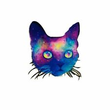 Embroidery Applique Patch Sew Iron Badge Cat Purple Velvet (Iron on)