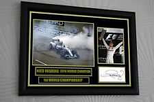 """Nico Rosberg World Champion Signed A3  Tribute Large Black Framed   """"Great Gift"""""""