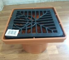 PVCu SQUARE HOPPER & GRID 110MM UNDERGROUND DRAINAGE waste pipe FLOPLAST