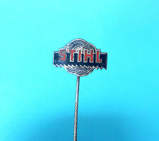STIHL chainsaw .... very old rare enamel pin badge anstecknadel kettensäge