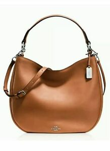 NWT Coach Nomad Hobo In Glovetanned Leather F36026 Saddle