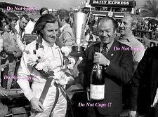 Graham Hill victoria retrato F1 BRDC International Trophy 1971 fotografía 1