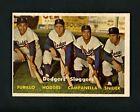 1957 Topps #400 Brooklyn Dodgers Sluggers EXMT+ Furillo Snider Campanella Hodges