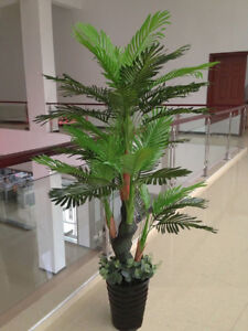 Large Artificial Plant Areca palm Tree  150cm High, Faux Plant Fake Real Touch