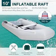 Inflatable Boat Raft Fishing Dinghy Tender Pontoon Boat 10ft