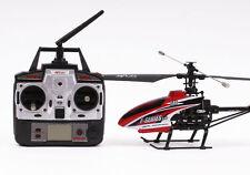 télécommandé RC Modèle D'hélicoptère Rouge F46 2.4GHz w /Gyro Prêt À Voler GB 03