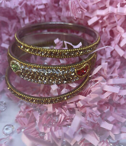Stunning indian jewellery bangles Multi Colour plated Size 2.8 # 25 One Hand