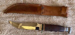 Vintage KABAR 1237 USA Knife w/ Sheath 1970's