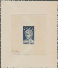 Saar 353 Artist signed die proof. 1956 Melbourne Olympic Games.
