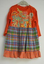 DELIGHTFUL VINTAGE GIRLS DRESS WITH JERSEY TOP AND PLAID SKIRT- OILILY TT143