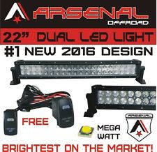 "#1 2016 22"" Arsenal Offroad MEGA WATT LED Light Bar 20"" of LED's 120w 9000 Lumen"