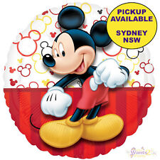 MICKEY MOUSE PARTY SUPPLIES RED BLACK FOIL HELIUM BALLOON BIRTHDAY DECORATIONS