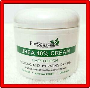 PurSources Urea 40% Foot Cream 4 oz Best Callus Remover Moisturizes & Rehydrates