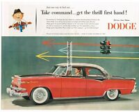 1955 DODGE Custom Royal Lancer 4-door Sedan Cameo Red Jewel Black  Vtg Print Ad
