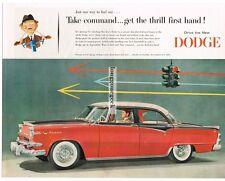 1955 DODGE Custom Royal Lancer 4-door Sedan Cameo Red Jewel Black  Vtg Print Ad