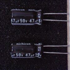 25x Nichicon VZ 47uF 50V 105C electrolytic capacitors - US Seller
