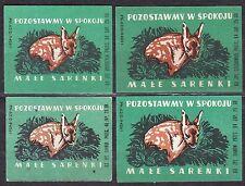 POLAND 1963 Matchbox Label - Cat.Z#361 set, Leave alone - small fagots.