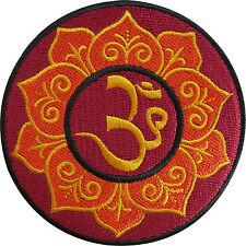 Himalaya Mountain Lotus Stars Buddha Yoga Hindu Hinduism Aum Iron-On Patch AU035