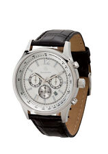 Mercedes Benz Men's Chronograph Watch with Crocodile Patterned Leather Straps