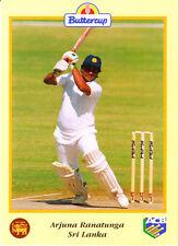 BUTTERCUP 1995 ARJUNA RANATUNGA Bat SRI LANKA, ACB Australian Cricket Card