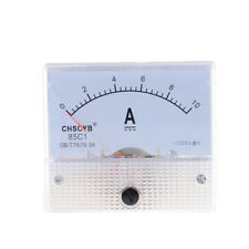 DC 0-10A Mini Analog Ammeter Current Panel Ampere Meter Tester For Experiment