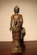 Nepal old budha ancien boudha position vitarka mudra patinated bronze
