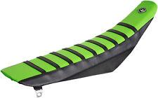FLU Designs Pro Rib PRS Seat Cover Green For Kawasaki KX250/450F 06-08 025502