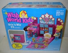 #3747 NRFB Vintage Kenner Wish World Kids Grin N Win TV Playset with Shari Doll