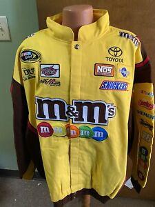Kyle Busch #18 Nascar M&M'S Sponsor Uniform Men's Jacket Chase 6XL