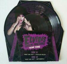 "Elvira Movie Macabre 7"" Vinyl 45 Record Picture Disc Glow In The Dark Horror"