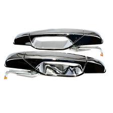 Outside Chrome Door Handles Rear L & R For Chevrolet Tahoe Silverado GMC Sierra