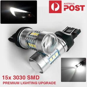 Turn Signal Indicator Light Bulb LED Reverse Globe Xenon White 2X T20 W21W 7443