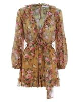 ZIMMERMANN Golden Ruffle Playsuit BNWT Size 2 SOLD OUT EVERYWHERE