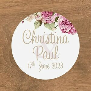 Personalised Wedding Stickers Favour Labels (E-024)