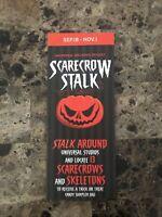 HHN Halloween Horror Nights Map Event Guide SCARECROW STALK Universal NEW 2020