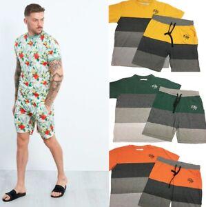 Mens ENTT King Jogging Short Sleeve Set T Shirt Top Shorts Sport Gym Tracksuits