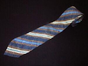 Kiton Napoli Tie Seven Fold 7 Stripe Skinny Slim Thin Italian High End Necktie