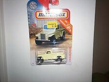 2019 Matchbox ~  #31 ~ MBX Construction ~ '51 Willys Jeep Pickup 4X4 ~ Yellow
