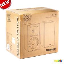 Klipsch R-41M Powerful detailed Bookshelf Home Speaker (Pair, Black) - NEW