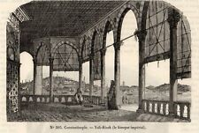 IMAGE 1849 ENGRAVING CONSTANTINOPLE ISTANBUL YALI KIOSK KIOSQUE IMPERIAL