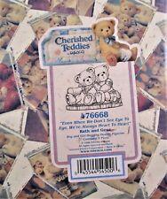 1990 Cherished Teddies Ruth & Gene Figurine #476668 Enesco - 100% Mint!