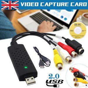 Video Grabber USB Capture Card, Convert Hi8 VHS to Digital DVD For Windows PC