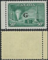 Scott O24, 50c Oil Wells Resource Issue with official G overprint single, VF-NH