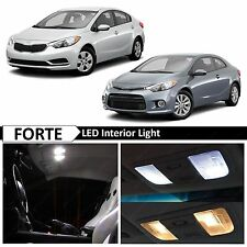 11x White Interior LED Lights Package Kit for 2011-2015 Forte Sedan & Koup