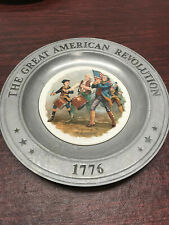 Lot of 2 The Great American Revolution 1776 Pewter Plates 1976 Canton Ohio