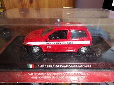 BOMBEROS FIAT PUNTO VIGILI DEL FUOCO-1/43 NUEVA 1995 DELPRADO-ITALIA NUEVO DVD